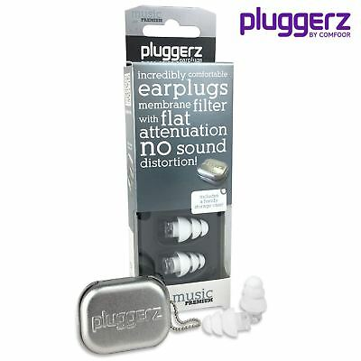 PLUGGERZ Ear Plugs for MUSIC, Musicians, Band, No Muffling Effect Earplugs