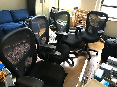 Tempur Pedic Ergonomic Mesh Mid Back Office Chair Black Tp9000 Set Of 4 360 00 Picclick