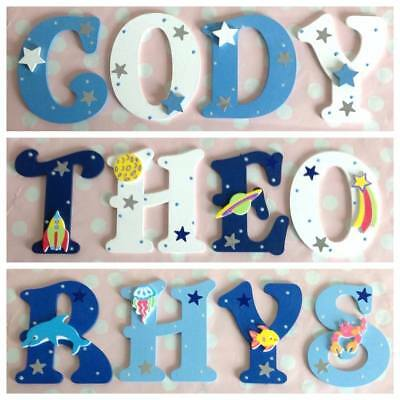 Baby/Boys/Girl Name Wooden Letter Bedroom Nursery Door Wall Art ANY COLOUR/THEME