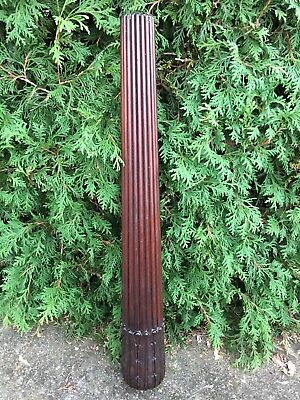 Vintage Large Carved Hard Wood Newel Post Finial Ornate Architecture Salvage