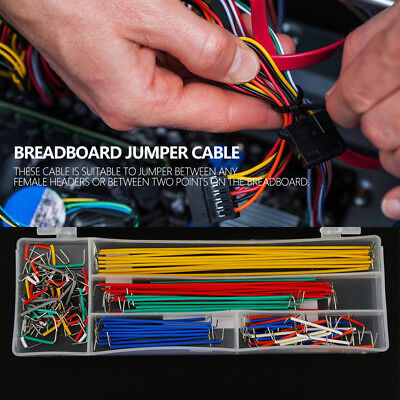 140pcs U Shape Solderless Breadboard Jumper Cable Wire Kit Box for Shield xi