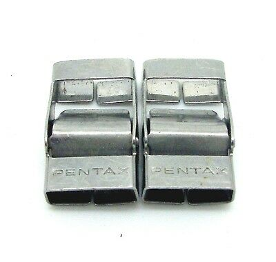 Vintage Pentax Metal Camera Strap Buckles Pair 10x20mm #580