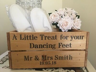 0101c2487d72a5 A Little Treat For Your Dancing Feet Wooden Box Crate Gift Storage Wedding  Party