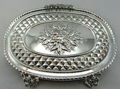 Sterling Silver Napkin Holder 925 -With Unique Floral Design Weight 142 Grams
