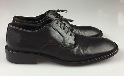 Kenneth Cole Collection Dark Brown Leather Oxfords Mens 10 Made in Italy Lace Up