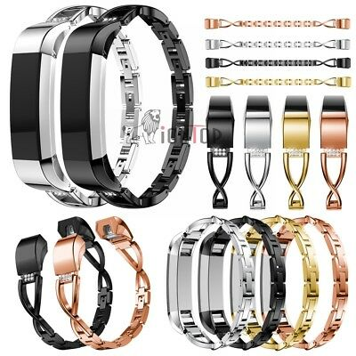 For Fitbit Alta HR Stainless Steel Bracelet Replacement Band Luxury Strap Bangle