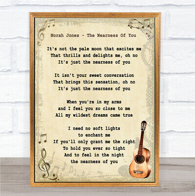 The Nearness Of You Song Lyric Vintage Quote Print