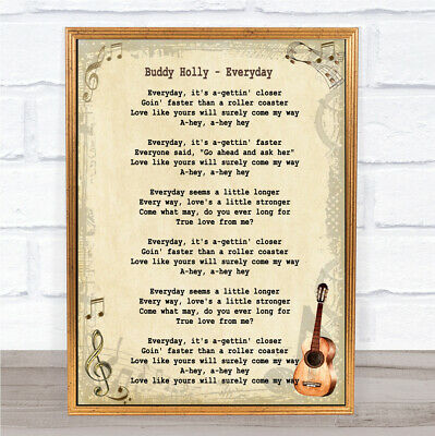 Everyday Song Lyric Vintage Quote Print