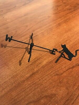 Vintage Doll House Fantasy Furniture Metal Weather Vane Parts or Repair