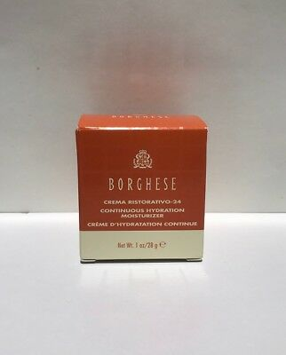 BORGHESE Crema Ristorativo-24 CONTINUOUS HYDRATION MOISTURIZER 1 oz New In Box