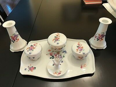 Antique Hand-Painted 10-piece Vanity/Dresser Set - Czechoslovakia