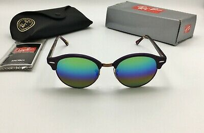1cf355959c RAY-BAN RB3016 1221C3 51 mm Clubmaster Mineral Green Rainbow Flash ...