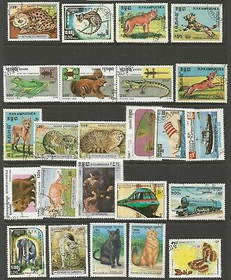 KAMPUCHEA CAMBODIA - Selection of different stamps, Good to fine condition.