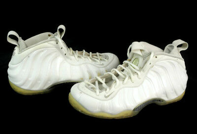 Nike Air Foamposite One Men's White Lace Up Round Toe Basketball Shoes Size 9