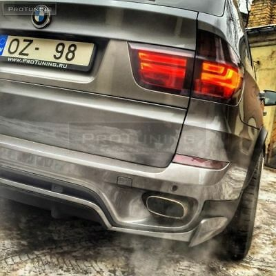 BMW X5 E70 Pair Stainless Steel Muffler Exhaust Tip Tail Extension Pipe V8 tips