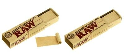 2 Pack Raw Natural Gummed Tips Perforated Cigarette Rolling Paper Chemical Free