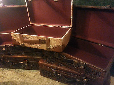 5x Decorative Suitcases Storage - Prop - Stage