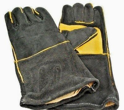 2 x PAIRS of New Leather Welders Gloves and  Cotton Lined, Welding Gloves, LARGE
