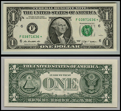 Star Note 2009* $1 Dollar Bill  Uncirculated (Atlanta  *f*) Lot E805