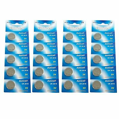 20 X Eunicell Cr2016 Dl2016 3V  Lithium Button / Coin Cell Batteries