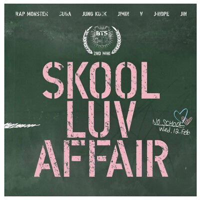 BTS SKOOL LUV AFFAIR 2nd Mini Album CD+Photo Card(random)+115p+Booklet