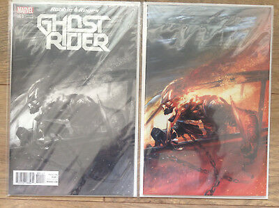 Ghost Rider 1 Gabriele Dell Otto Secret Virgin Variant 500 & Color 1500 Made  NM