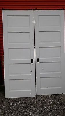 Vintage Pocket Doors 5 Foot With Track And Rollers