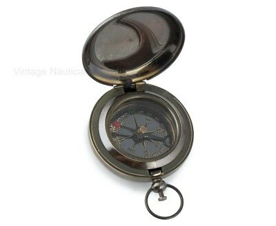 Compass- Flip/ Push Button - VINTAGE NAUTICAL AUSTRALIA