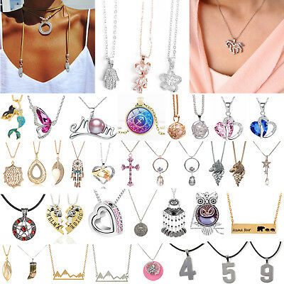 Newest Women Crystal Jewelry Gold Silver Charm Necklace Pendant Clavicle Chain