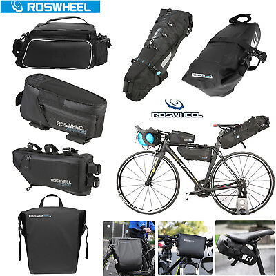 ROSWHEEL 4L BICYCLE Frame Bag Cycling Painner Front Tube Pack Quick ...