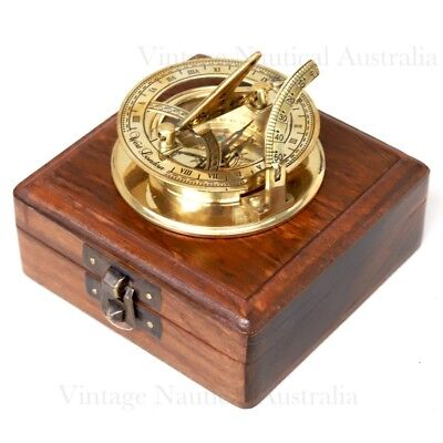 Vintage Nautical Sundial Compass West London Golden Finish