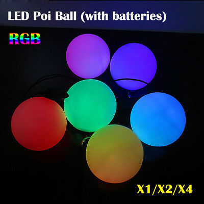 1/2/4 Pcs LED POI Thrown Balls For Professional Belly Dancing Level Hand Props