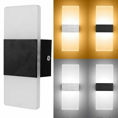 LED Wall Light Up Down Cube In/Outdoor Sconce Lighting Lamp Fixture Modern Light