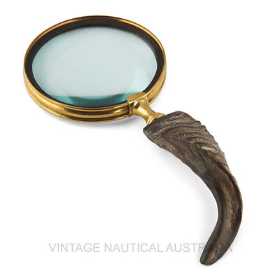 Magnifying Glass - Sheep Horn-VINTAGE NAUTICAL AUSTRALIA