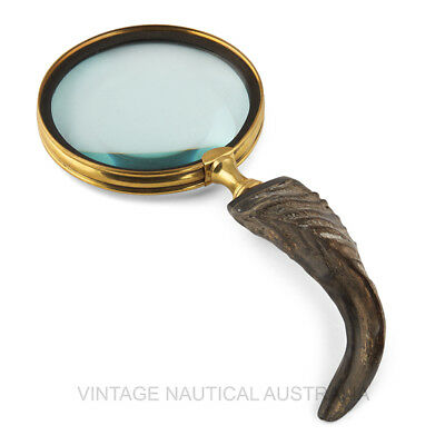 Magnifying Glass - Sheep Horn - VINTAGE NAUTICAL AUSTRALIA