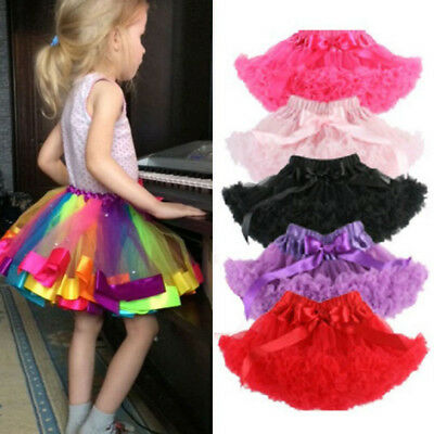 Baby Girl Kids Toddler Layer Tutu Skirt Ballet Dancewear Party Costume Skirt US