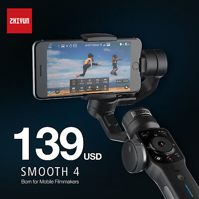 Zhiyun Smooth 4 Black 3-Axis Handheld Gimbal Stabilizer for Smartphones Camera