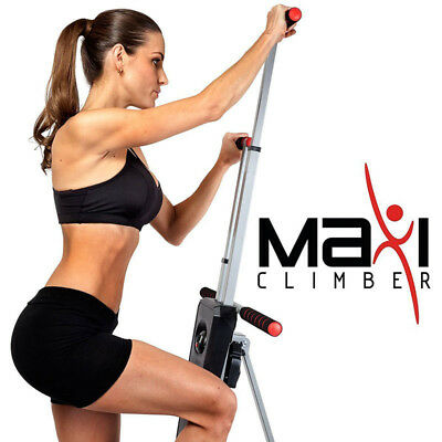 Maxi Climber Machine Vertical Climbing Fitness System Stepper Cardio Home GYM UK