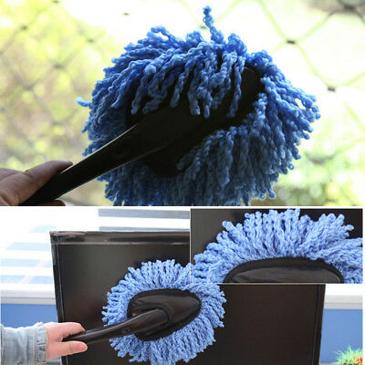 Aa 1pc Blue Dashboard Cleaning Washing Cotton Brush Soft Duster Super Car Cloth