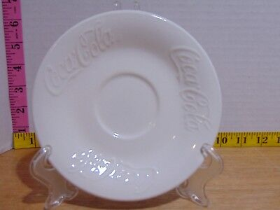 """Coca Cola White Porcelain Embossed Saucer Gibson 6 1/2"""""""