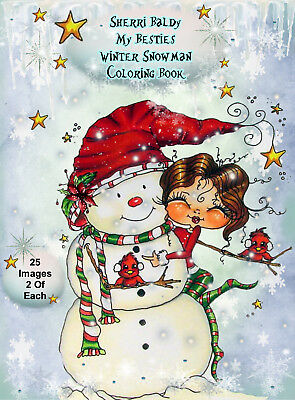 Signed Coloring Book Sherri Baldy My Besties Christmas Cottage