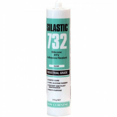 Silastic 732 Silicone RTV Adhesive / Sealant Industrial Grade Clear 310g