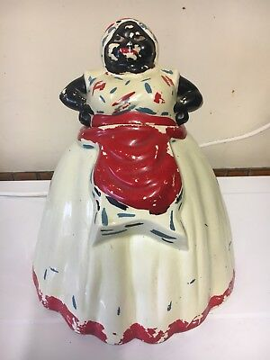 RARE Vintage 1950's Black Americana 'MAMMY' cookie jar/biscuit barrel