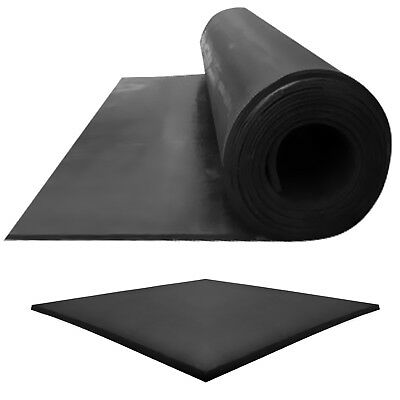 EPDM BLACK Rubber Sheeting Garage Rubber Flooring 1.4M Width X 1.5MM,3MM THICK