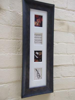 Karen Driscoll Ronnie Arts'' All that Jazz'' Miniature Oil Paintings Framed