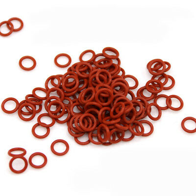 Red Food Grade Silicon Rubber O Ring Seals Washer OD15mm-45mm Cross Section 4mm