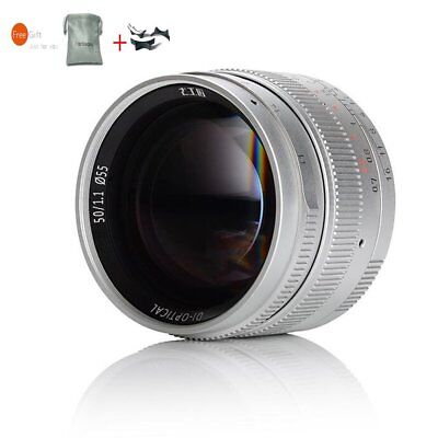 7artisans 50mm F1.1 Leica M Mount Lens For Leica M-Mount M-M M3 M4 M240 Silver