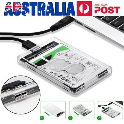 New USB 3.0 Transparent 2.5inch SATA SSD HDD Hard Disk Drive Enclosure Case