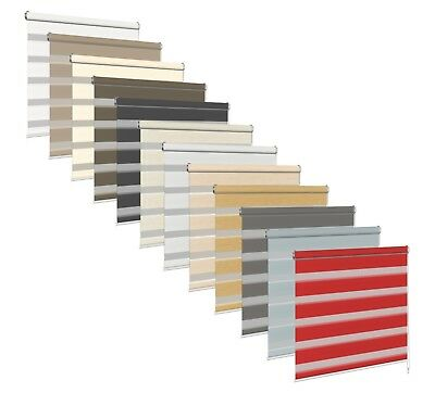 Made To Measure Blind Day Night Roller Blinds 2.0 Zebra/Vision 11 colours Tape