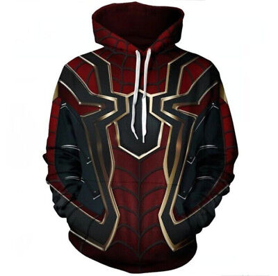 Avengers Infinity War Iron Spider Hoodie Sweater Coat Spiderman Cosplay Costume